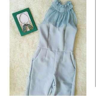 NEW Baby Blue Long Jumpsuit (Free Ongkir JABODETABEK)
