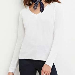 Forever 21 Classic V-Neck Sweater