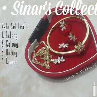 Set Perhiasan Lapis Emas Imitasi