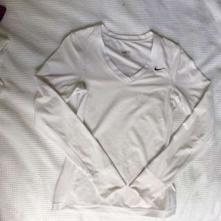 Nike White Running Top