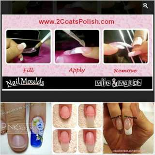 NAIL MOULDS for instant scuplted acrylic extensions