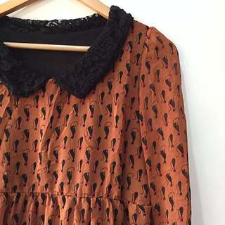 Orange cat Top / blouse