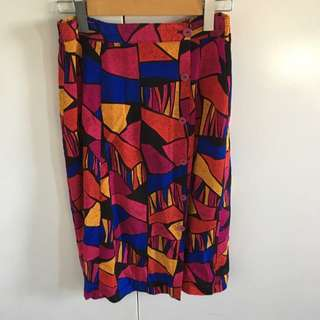 Vintage 80s Gorman Style Skirt 10-12