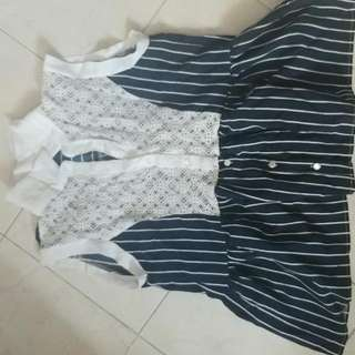 Made In Korea Vest  今天夏天購於梨大, 質料挺身,前面lace,只穿過二次,已乾洗。