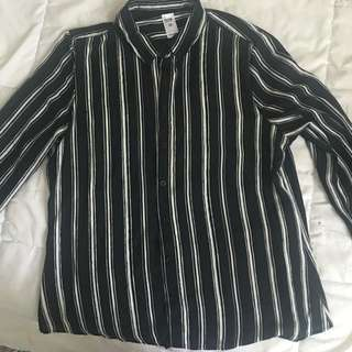 Size 12 Worn On E Button Up Business Shirt