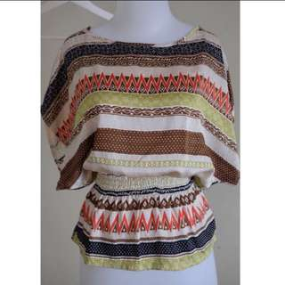 F21 Tribal Blouse