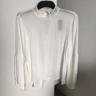 Sportsgirl Lace Collar Blouse