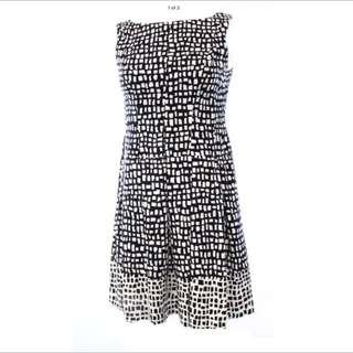 Ralph Lauren Black And White Dress Size 12