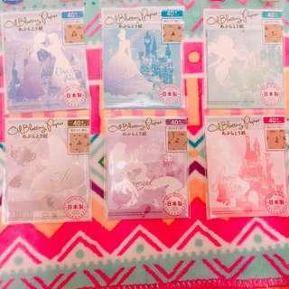 日本帶回❤️日本代購✨迪士尼 公主👍🏻吸油面紙 ✨小美人魚✨長髮公主✨冰雪奇緣✨艾莎✨安娜✨愛麗絲✨灰姑娘✨白雪公主