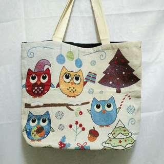 (New) Owl Tote Bag