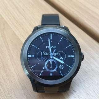FOSSIL Q FOUNDER 系列2.0黑灰色不鏽鋼智慧中性錶