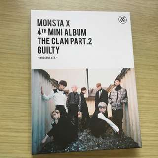 [wts] monsta x innocent ver album w poster set