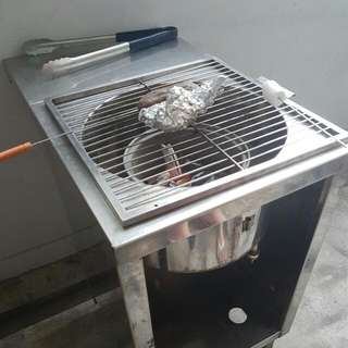💙Used Stainless Steel BBQ Unit