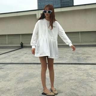 韓版白色連衣裙