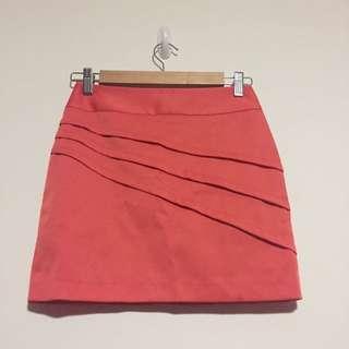 Orange/peach Work Skirt