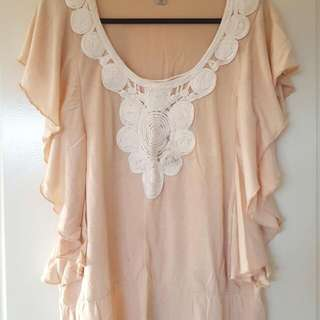 Temt Flowy Top With Front Detail