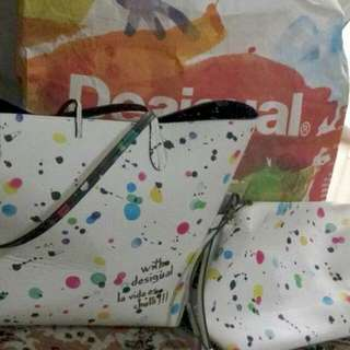 Desigual Tote Bag + Extra Small Sling Bag