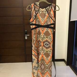 Preloved Dorothy Perkins Printed long dress