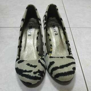 Miya 37號斑馬紋高跟鞋 #五百元好女鞋