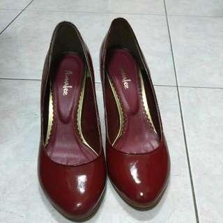 專櫃37號紅色高跟鞋 #五百元好女鞋