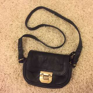 Colette Black And Gold Small Side Bag