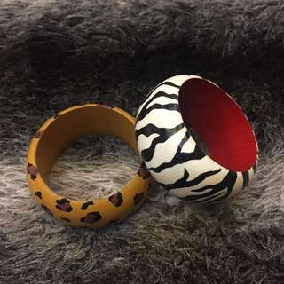 Handpainted Wooden Bangles