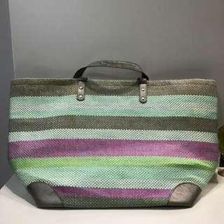 Colourful Big Straw Bag