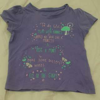 Mothercare Purple Top