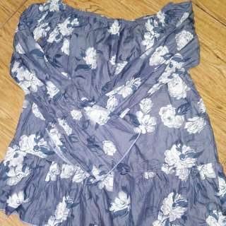 Repriced!! Floral Off Shoulder