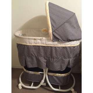 Grey & Yellow Carter's Baby Bassinet