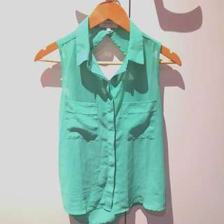 Cotton On Mint singlet button up