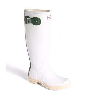 Hunter 白色雨鞋9.9成新 UK4