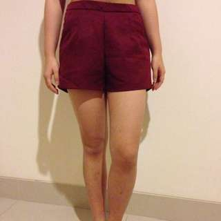 Red Short Pants