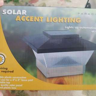 Solar Post Lights (8 Lights New In Box. Selling As Lot)