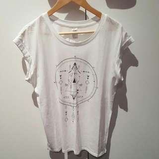 White Tribal Compass top