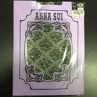 全新Anna Sui黑色花紋褲襪