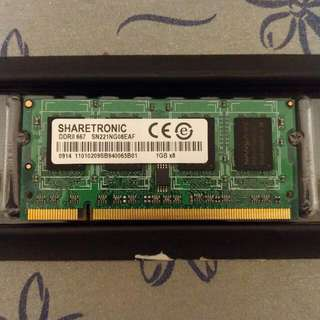 1 GB DDR2 667 Notebook Ram