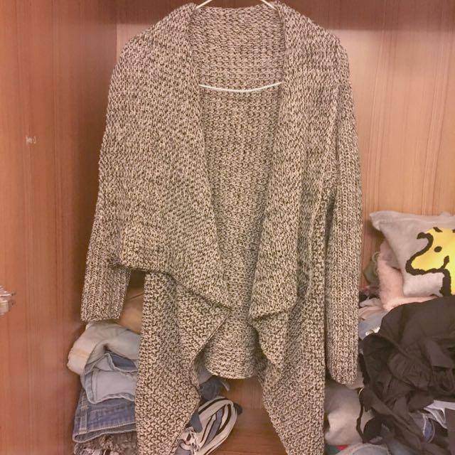 混色針織厚外套🌧