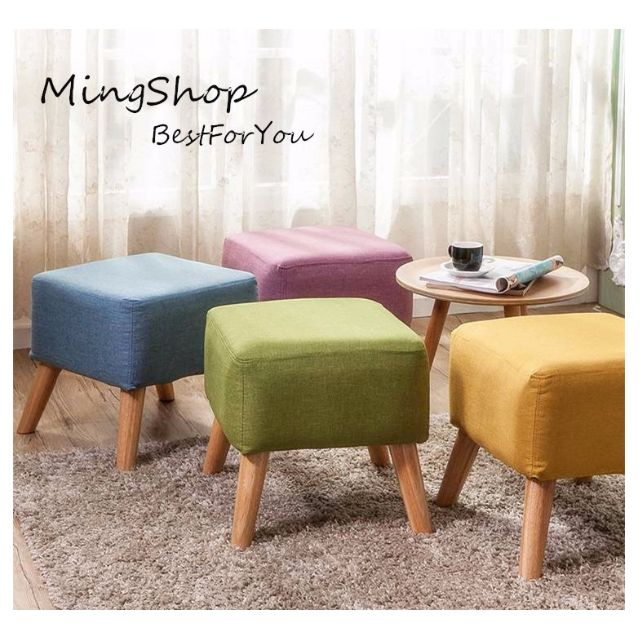 歐維斯馬卡龍繽紛方腳凳/方型椅