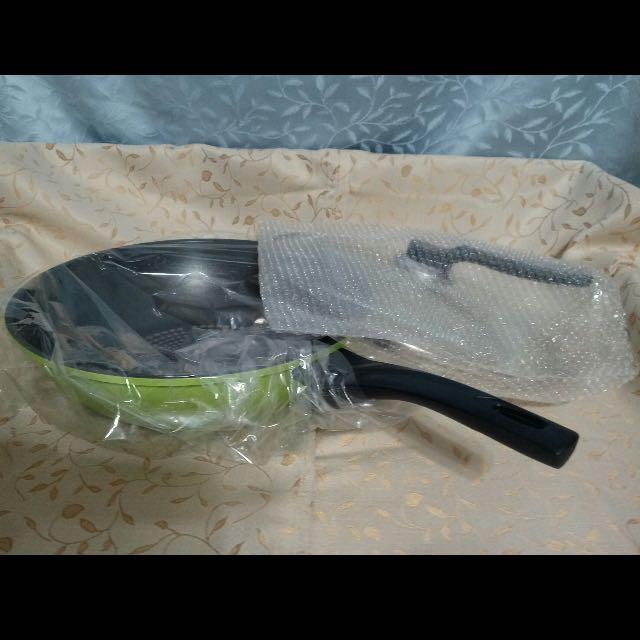 不沾鍋深炒鍋含鍋蓋Green Cook