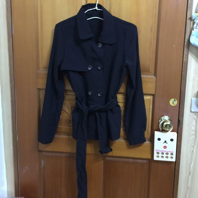 中長版風衣外套