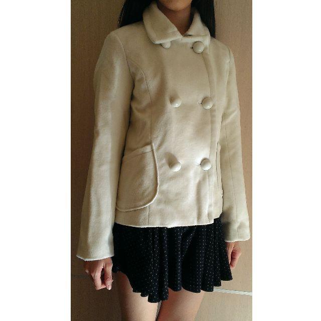 日本帶回。白色毛尼大衣(含毛領)