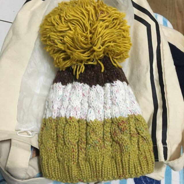 ✅大毛球針織毛帽 ✅撞色毛帽!質感極佳,超保暖!全新!含運~