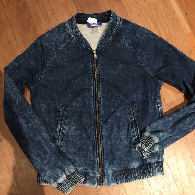 Adidas Denim Look Jacket. Size 8