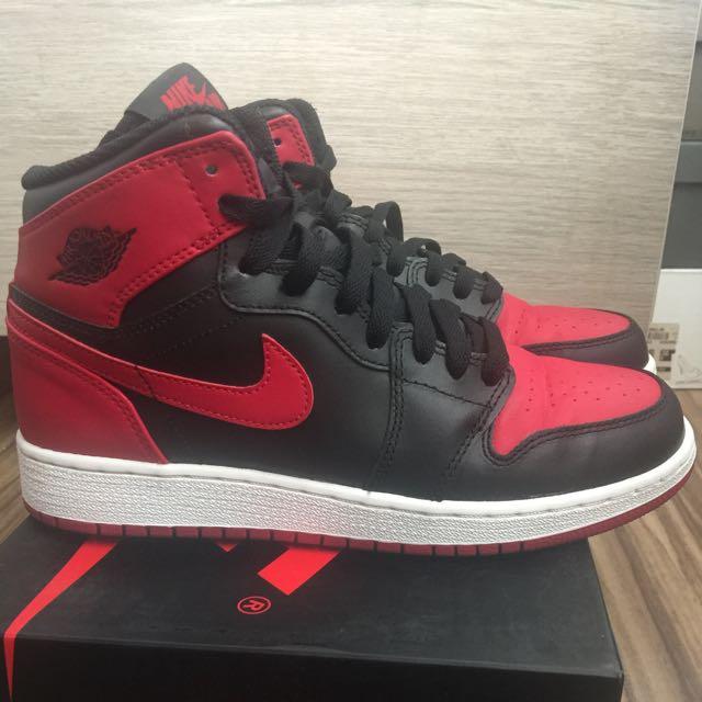 official photos 6901f e00d0 Air Jordan 1 Bred 2013 gs