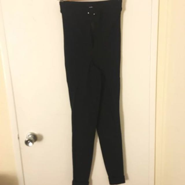 American Apparel Black Riding Pant