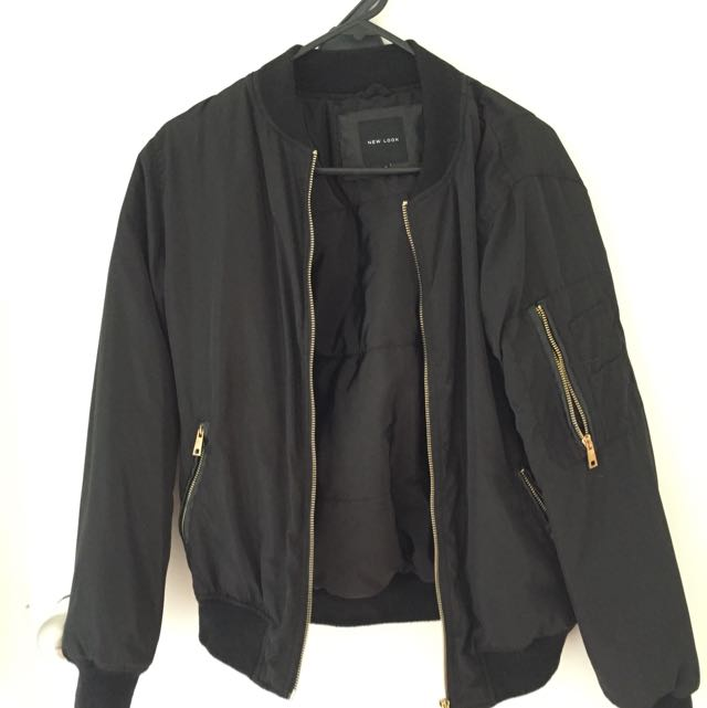 Asos/ New Look Black Bomber Jacket