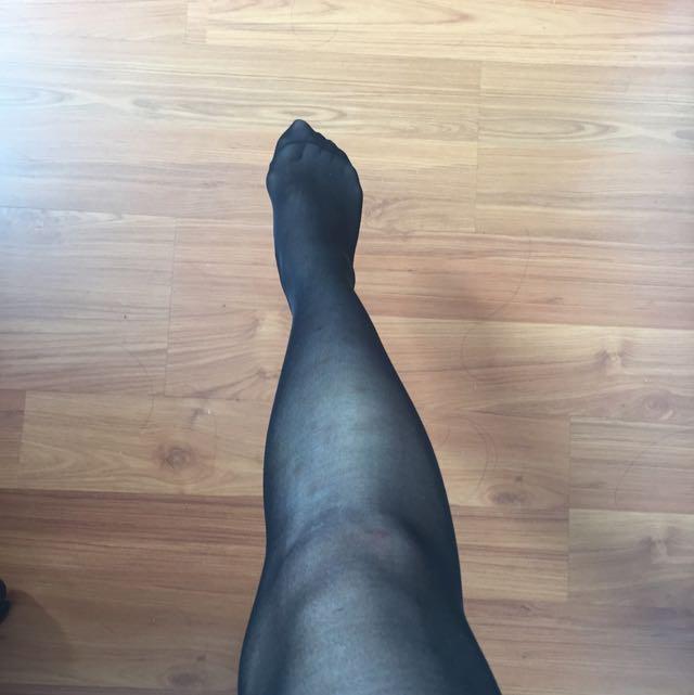 Black Sheer Stockings $2 For 6!