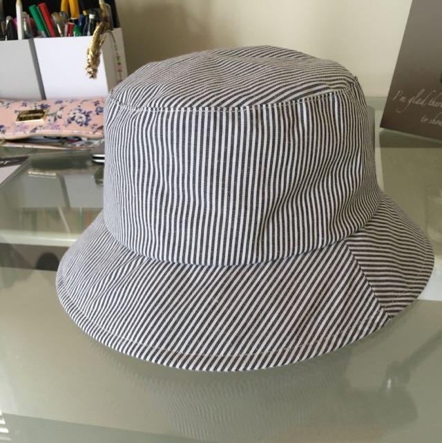 Blue and White Stripe Bucket Hat