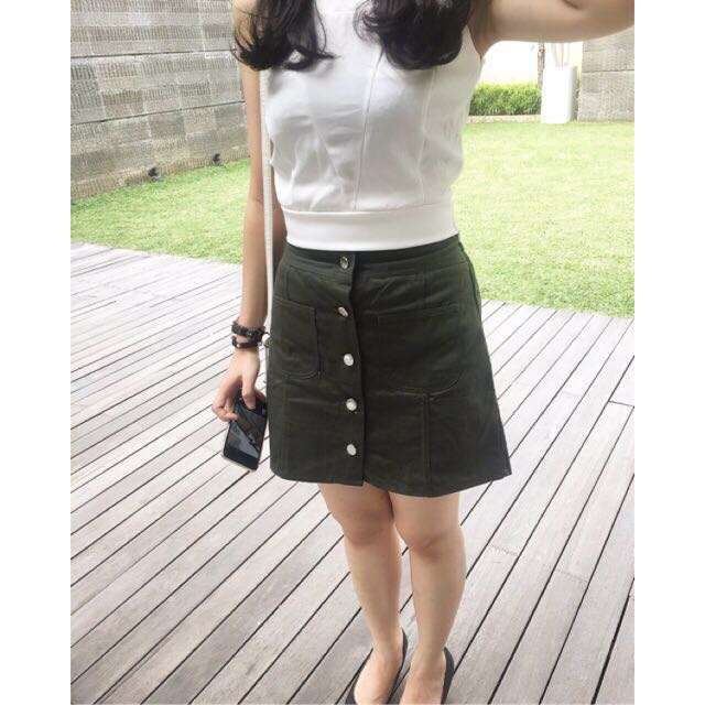 Button Skirt Army